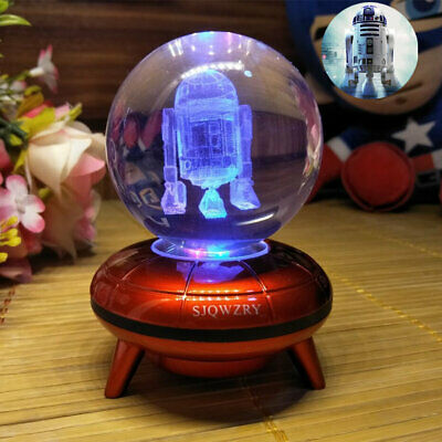Star Wars R2-D2 3D LED Crystal Decor Night Light Xmas Child Table Lamp Gift RGB  • 18.99£