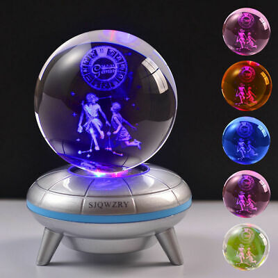 Gemini Constellation 3D LED Crystal Decor Night Light Xmas Child Lamp Gift RGB • 18.99£