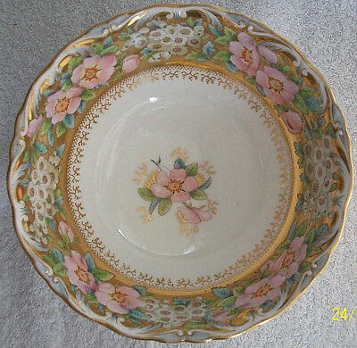 China Dish. Victorian Design. Gold Decoration.Beautiful Bowl. Kept In Cabinet • 24.50£