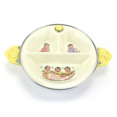 Vintage Baby Food Warming 3 Section Divided Plate By Excello • 11.90£
