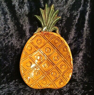 Ceramic Pottery  Pineapple  Dish, Made In The USA. • 13.99£