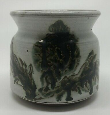 Vintage BRIGLIN Studio Pottery, Hand Painted Earthenware Bowl, Made In London.  • 24£
