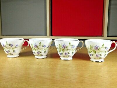 Vintage Duchess Harebell Pattern Replacement Teacups X4 Free UK P&P • 9.99£