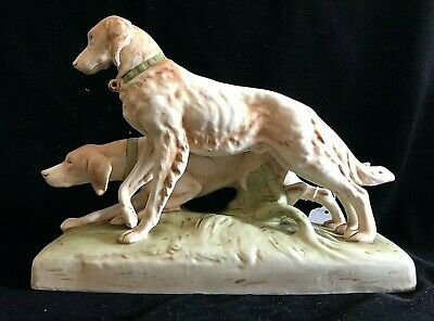Royal Dux Group Pair Hunting Working Dogs #12244 • 350£
