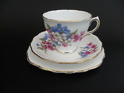 Royal Vale Bone China Floral Cup Saucer & Plate Trio. • 9.99£