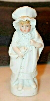 Attractive  Antique Porcelain Figure Of A  Young Girl C1880s • 12£