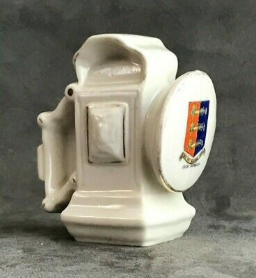 Shelley Ww1 Ww11 Crested China Great Yarmouth Bicycle Lamp • 35£