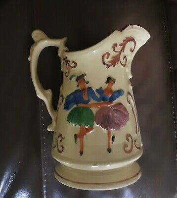 VINTAGE   YUGOSLAVIA    WATER   JUG   Nearly 8 Inch Tall   Hand Painted • 27£