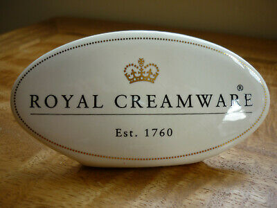 Vintage Royal Creamware Advertising Sign • 17.99£