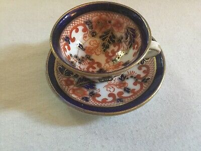 Welsh Gaudy Minature Cup And Saucer Restored 19 Century • 30£