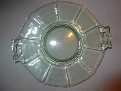 Imperial Green Depression Glass Molly 2 Handled Cake Plate Excellent • 16.11£