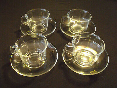Arcoroc Classique Cup And Saucer Set Of 4 NEW Condition • 18.42£
