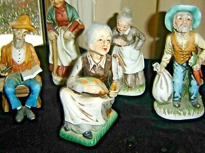 Five Man And Lady Figurines • 4.99£