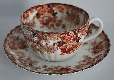 A Large Samuel Redford Registered Design Bone China Cup And Saucer • 29.99£