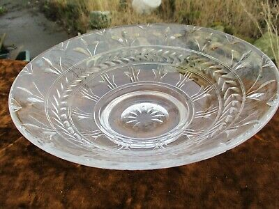 Stuart Crystal Cut Glass -  Footed Fruit Bowl  - 10″ Diameter • 17.50£