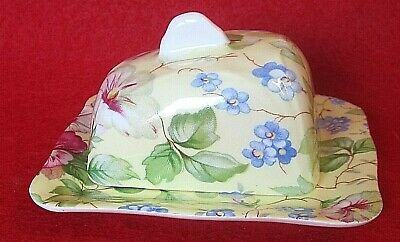 Child's Miniature Covered Cheese / Butter Toy Fine Bone China Chinz Vintage  • 11.73£