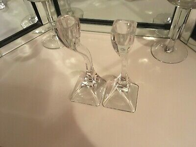 Vintage Pair Of Riedel Crystal Counterbalanced Candlesticks  • 18£
