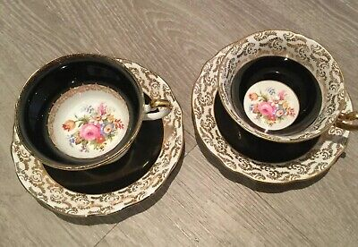 Pair Vintage Rare FOLEY China Cup & Saucers. • 13£