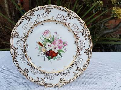 Antique English Porcelain Hand Painted Floral Plate 9.30 Inches • 18£