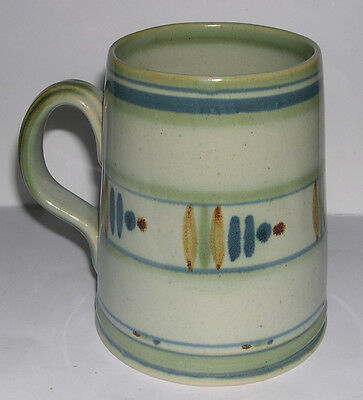 Vintage Buchan Pottery - Full Sized Tankard - Abstract Design - 13cm Tall. • 30£