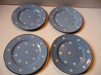 Devon Ware Babbacombe Blue With White Polka Dot 4 Side Plates • 19.99£