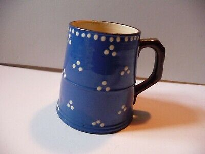 Devonshire Torquay Ware Tankard Blue With White Polka Dot • 10.99£