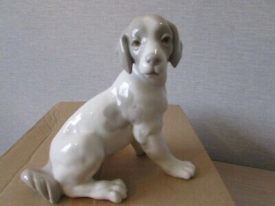 Lladro Nao Figure - Dog In Sitting Position • 7£