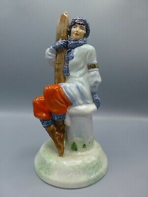 Peggy Davies / Kevin Francis Lady With Skis, Artists Original Colourway 1/1 • 130£