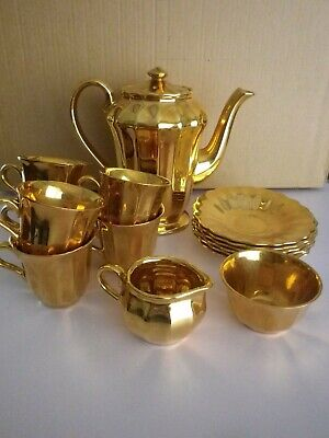 Wade Gold Tone 15 Piece Coffee Set • 24.99£