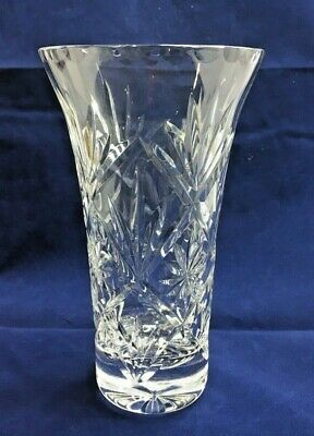 Small Vintage Crystal Cut Glass Vase 15cm Tall • 16.65£