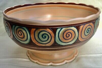 Stunning Rare George Jones Tube Lined Footed Bowl By Edith Gater • 30£