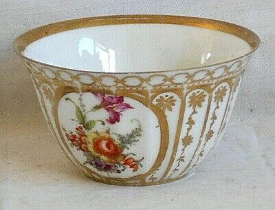 Focks & Meltzer Wurttemberg Cup  Decorated With Flowers, Gilding And Flutes • 5£