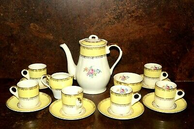 Royal Leighton Ware 15 Piece Coffee Set C.1946 • 25£