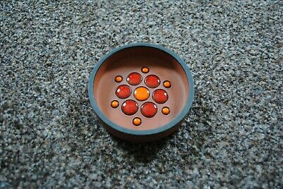 Genuine Hornsea Pottery Small Muramic Dot Pin Dish Ashtray Vintage Rare • 15£
