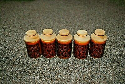 Genuine Hornsea Pottery Set Of 5 Spice Jars Vintage Rare • 20£