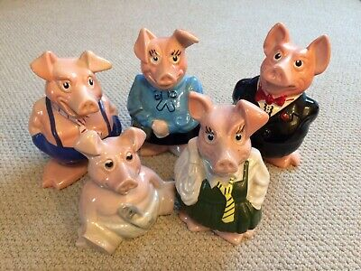 NatWest Pigs - Money Boxes Full Set - Wade - Excellent Condition • 34£
