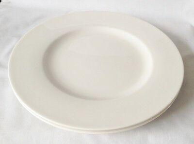 Villeroy And Boch Twist White Dinner Plates X 2 - NEW UNUSED • 30£