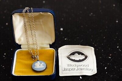 Wedgwood  Aquarius  Pendant In Blue - With Box. Good Condition • 15£