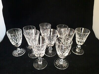 10 Assorted Vintage Stunning Quality  Lead Cut Crystal Sherry Liquor Glasses(18c • 9.99£