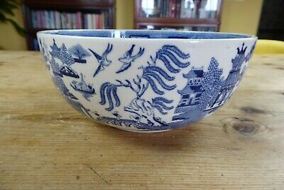 Vintage Wedgwood Willow 7.75  Bowl Blue/White Willow Pattern • 9£