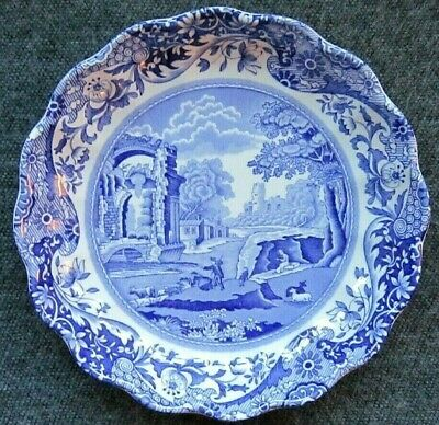 Spode Blue Italian Small Round Dish With Fluted Edge • 8.99£