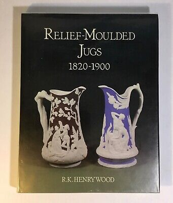 Pottery Relief Moulded Jugs , Pitchers 1820 To 1900 • 4.99£