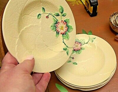 6 X Vintage Carlton Ware Primula Tea Plates  Fully Stamped Excellent Condition • 14.95£