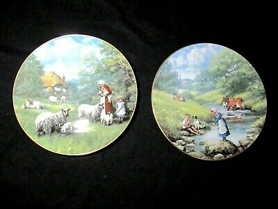 2 Royal Doulton 'Country Children' Plates - Meadowsweet, Visitors • 9.50£