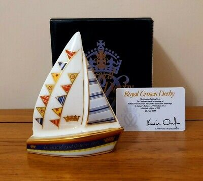 Rare Royal Crown Derby - *CHRISTENING BOAT* - Limited Edition Of 500 - Beautiful • 75£