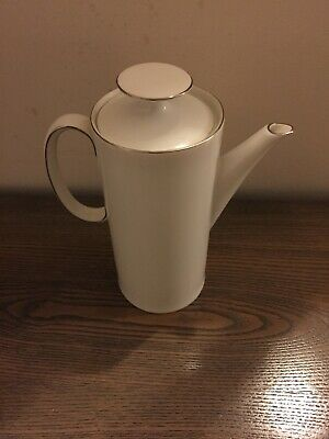 Thomas China, Coffee Pot, White With Thin Platinum Band Good Condition  • 0.99£