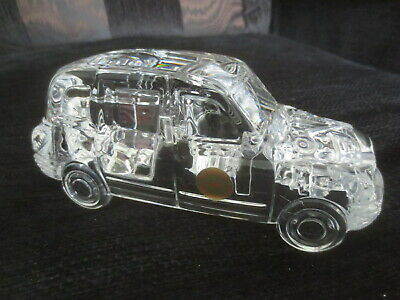 Bleikristall Full Lead Crystal Taxi Paperweight • 6.99£
