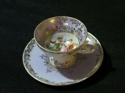 Antique Royal Vienna Beehive Mark Cabinet Cup And Saucer Mauve VGC Free UK P&P • 19.99£