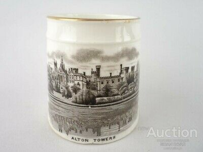 ANCIENT CIRCLE ALTON TOWERS PORCELAIN ENGLAND 1900 Years Old Museum Architecture • 9.99£