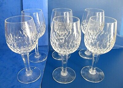 6 Royal Doulton Cut Glass Crystal Wine Glasses • 25£